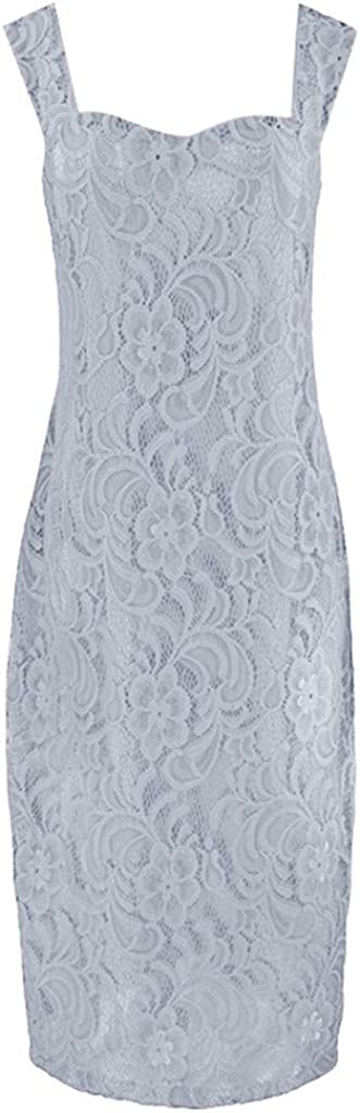 Ninasill Dress,Womens Fashion Two Pieces Charming Solid Color Mother of The Bride Lace Dresses