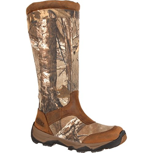 Rocky Men's Retraction Waterproof Side-Zip Snake Boot Knee High, Realtree Xtra, 12 M US