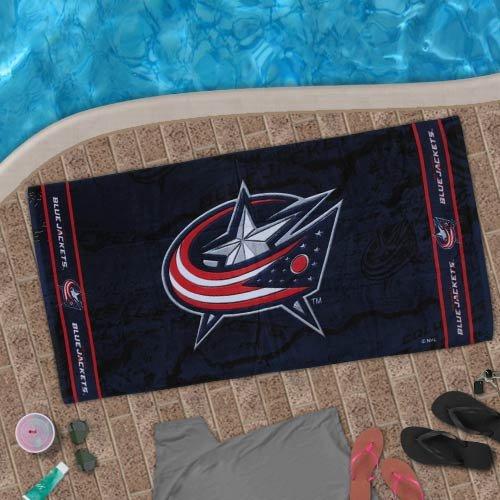 NHL McArthur Columbus Blue Jackets Beach Towel - Navy Blue ()