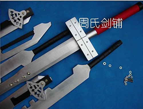 (AIT Collectibles S5101 Anime Final Fantasy FF VII 6 Cloud Strife Blade Combined Wood Sword Buster 51.8