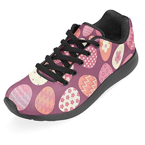 Sports InterestPrint Running Shoes Multi Walking Casual Womens Sneaker Comfort Eggs Jogging 1 colorful Running Easy Go Lightweight Easter rBPrwv
