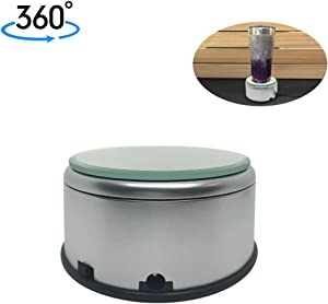 Display Turner for Epoxy Glitter Tumblers, 360 Degree Rotating Display Stand Turntable Automatic Revolving Platform Perfect for Displaying Glitter Cups