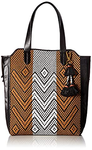 Elliott Lucca Marcel Tote, Black/Multi Sayulita - Elliott Lucca Leather Shoulder Bag