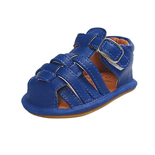 Per Sandalias elegante Para Bebé Hembra Zapatos Para los Primeros Pasos Azul oscuro