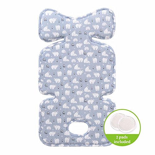 Air Mesh Cool Seat Pad/Cushion/Liner for Stroller and Car Seat (Snow World) - Hand Made … ()