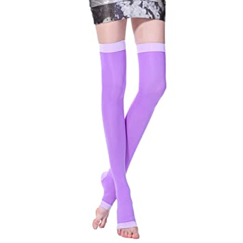 63d438f0405 TEERFU Compression Stockings for Varicose Veins Burn Fat Super Thin  Sleeping Slimming Thigh High Socks Open Toe  Amazon.co.uk  Health    Personal Care