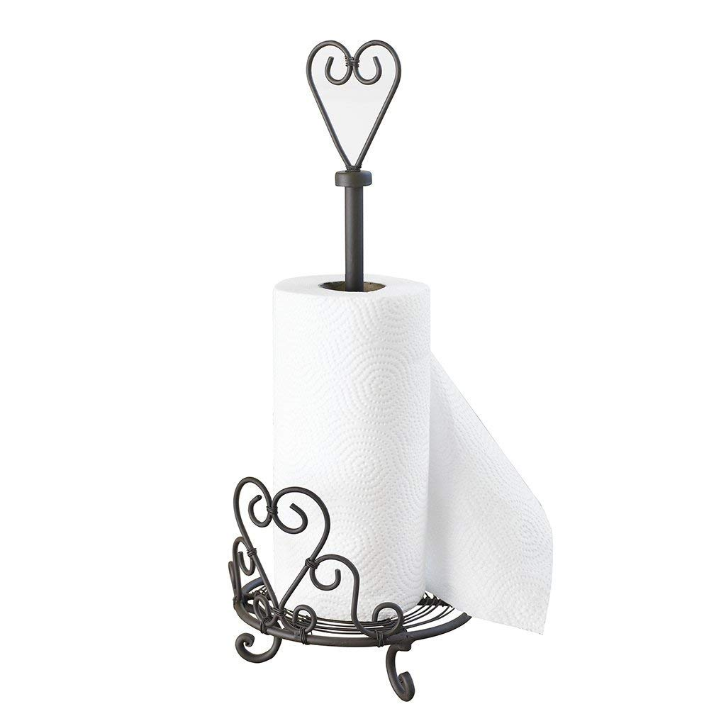 Iron Heart Ivory Kitchen Paper Towel Roll Holder 47cm