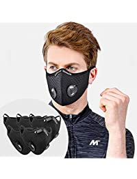 5Piece Sport Masks with10PCS Filters Net Anti-dust Masks Washable Reusable Masks Balaclava Mask Sports Mask Black