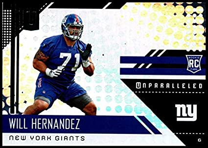 classic fit 22f4b 347f8 Amazon.com: 2018#283 Will Hernandez NM-MT RC NY Giants ...