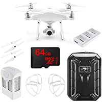 DJI CP.PT.000689 Phantom 4 Advanced Quadcopter Bundle with Intelligent Flight Battery, Charging Hub, Propellers, Propeller Guards, Hardshell Backpack and 64GB MicroSDXC High-Speed Memory Card