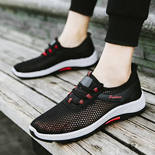 Herren Damen Unisex Mesh Atmungs Laufschuhe Lauf Sport Leichte Schwarz FNKDOR Sportschuhe Schuhe Sneaker d5aqTxw