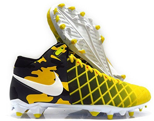 (Nike Field General Pro TD Mens Football Cleats 10 D(M) US White/Black/ Opt Yellow)