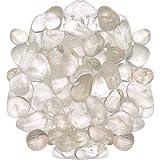 "1lb Tumbled Clear Quartz Stone Large 1\""+ Polished Crystal Healing *Wholesale Bulk Pound Lot*"