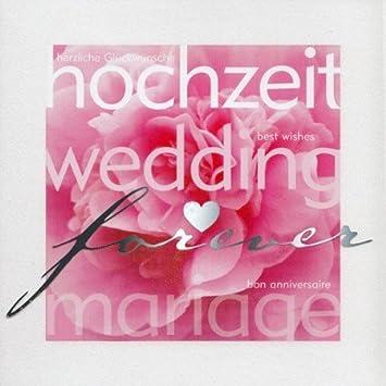 Hochzeitskarte Wedding Mariage Mehrsprachig Rosen Englisch