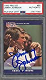 1990 Pro Set #85 Jimmy Johnson Certified Authentic Auto Autograph *7760 - PSA/DNA Certified - Football Slabbed Autographed Cards