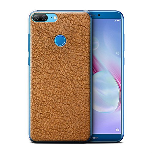 Price comparison product image STUFF4 Phone Case/Cover for Huawei Honor 9 Lite/Cocoa Brown Design/Leather Patch Effect Collection