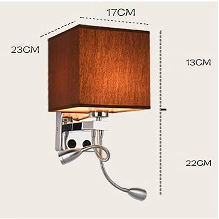 MJK Lámpara de pared, proyector de pared Lea el paño creativo ...