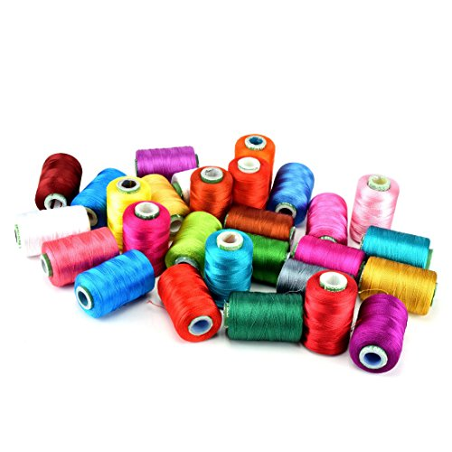 Unobite 28 Assorted Color Silk Embroidery Thread 550 Yards Each Spool