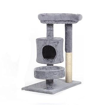 WW-XX Gato Nido Estante De Gato Juguetes para Gatos Árbol De Gato Gran Escala Marco De Escalada De Gato Casa del Árbol (Color : Gris): Amazon.es: Hogar