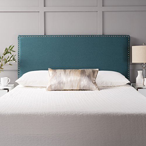 Halifax Fabric Queen/Full Headboard (Dark Teal) Review