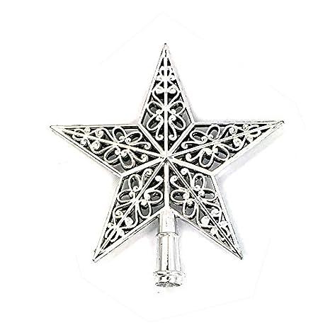 BYSTE_Natale Decorazione 3D Hollow out Albero di Natale Superiore Stella Stella dell'albero Pentagramma Decorazione del Partito Albero di Natale Ornamento