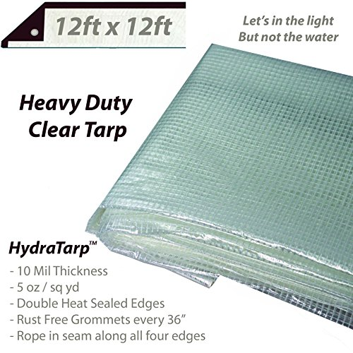 enhouse Tarp - 12ft x 12ft - Premium quality 10 mil with 3x3 Mesh weave for added strength - UV coated protection for outdoor camping RV Truck and trailers ()