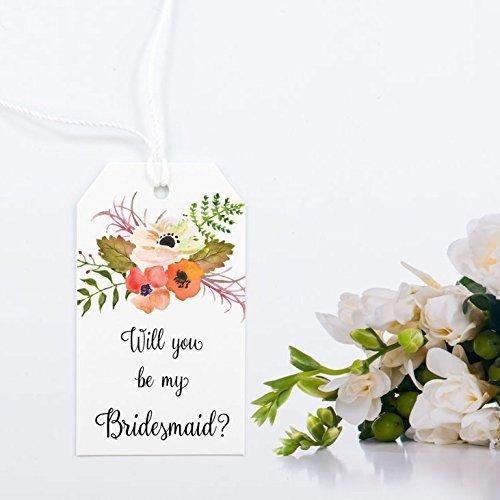Amazon Will You Be My Bridesmaid Gift Tag Wedding Party