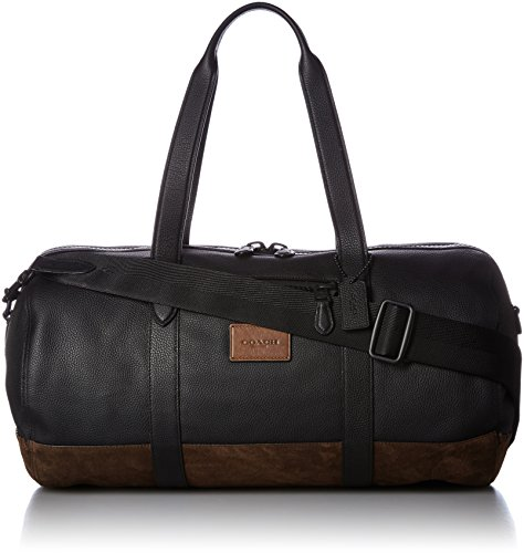 COACH Men's Metropolitan Soft Gym Bag Black/Black Mahogany - Outlet Mens Coach
