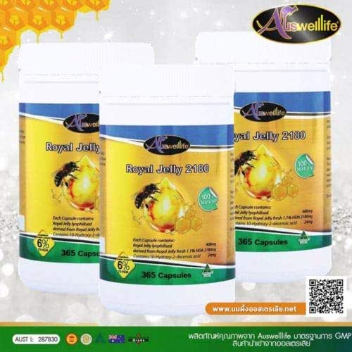 3X Auswelllife Royal Jelly 2180 mg Bee Milk High Concentration Restore Youth