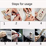 SZCSY New magnetic rotate Q finger buckle phone holder car stand ring brackets lazy car phone stand (gold)