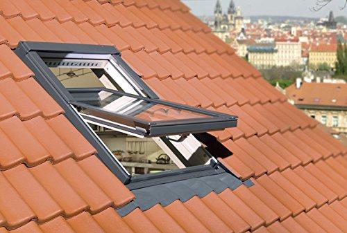 FAKRO Austauschfenster FTP-V U3 aus Holz für Alte Velux- und Roto-Dachfenster 85 x 112