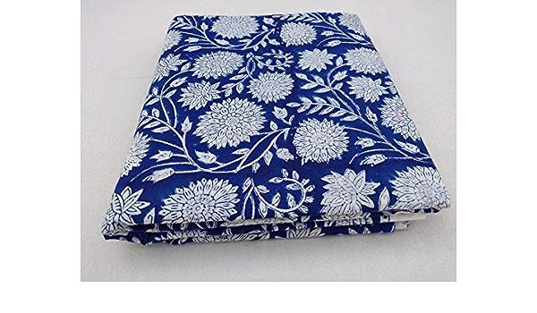 Indian Hand Block Print Fabric Pure Cotton Fabric Sanganer Jaipur Natural Vegetable Color 2.5 To 50 Yards Print 255