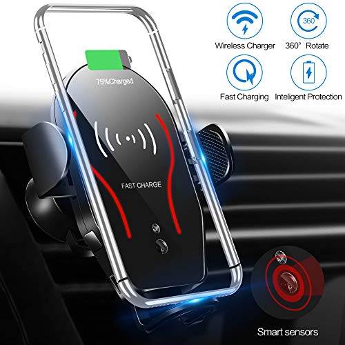- ARCBLD Wireless Charger Car Mount, 10W Qi Certified Power Fast Charge Air Vent Phone Holder, Auto Clamping Adjustable Gravity Car Mount Compatible with iPhone Xs Max/XR/XS/X/8/8 Plus, Galaxy Note 9/S9
