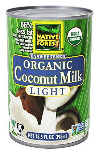 Native Forest - Coconut Milk Light Organic Unsweetened - 13.5 oz (pack of 2)