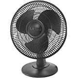 Lasko 2017 12 Table Fan, black 3-Pack