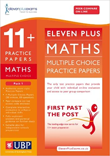 11+ Maths Multiple Choice Practice Papers: Pack 1 (First Past the Post)