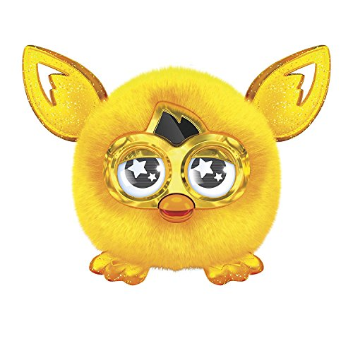 Golden Furby Furbling Creature Plush Doll Yellow Gold Crystal Furby Baby Interactive with Furby Boom, Special Edition