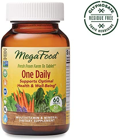 MegaFood, One Daily, Supports Optimal Health and Wellbeing, Multivitamin and Mineral Supplement, Gluten Free, Vegetarian, 60 Tablets 60 Servings FFP