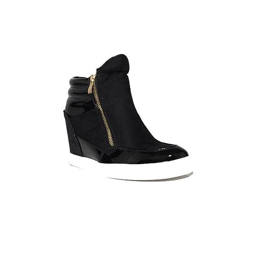 LAIK - Bota Galática Zapatillas Urbanas de Mujer Negro Elegantes Casuales Cuña Baratas: Amazon.es: Zapatos y complementos