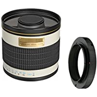 500mm f/6.3 Manual Focus Telephoto Mirror Lens For For Sony Alpha a7, a7S, a7IIK, a7II, a7R, a7R II, a6100, a7000, a6000, a5100, a5000, a3000, NEX NEX-7, NEX-6, NEX-5, NEX-3 (E-Mount) Digital Camera