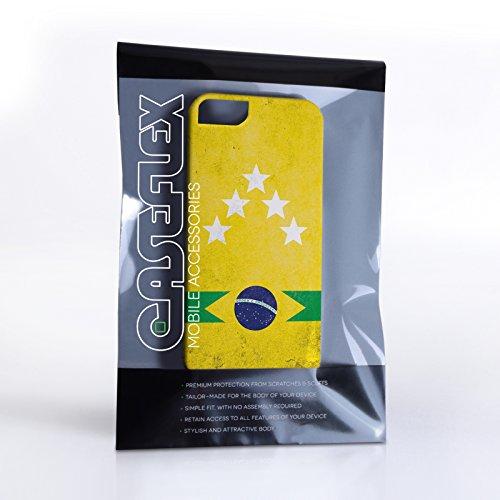 Caseflex iPhone 5 / 5S Hülle Brasilien Fünf Sterne Retro Weltmeisterschaft Hart Schutzhülle