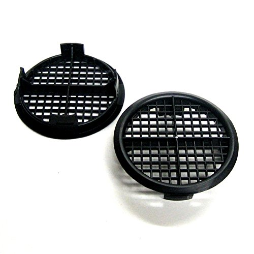 Timloc Plastic Round Soffit Air Vents / Upvc Push Fit Eaves Disc Fascia 8 X 70Mm Black