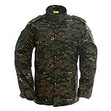TACVASEN Outdoor Military Tactical Combat Uniform Shirt Army Airsoft BDU Top Jacket Coat Blouse