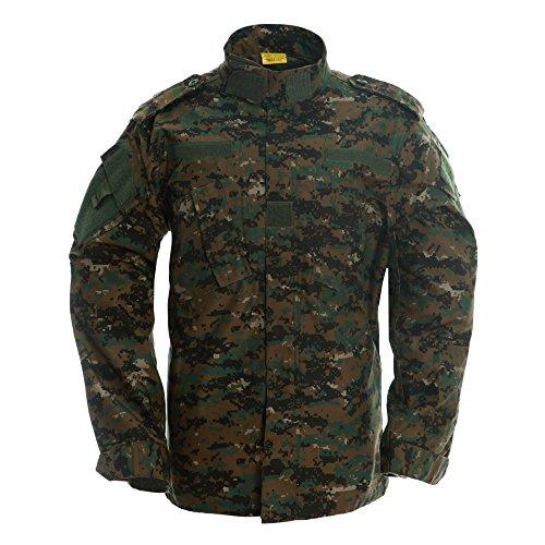 TACVASEN Outdoor Military Tactical Combat Uniform Shirt Army Airsoft BDU Top Jacket Coat Blouse ()
