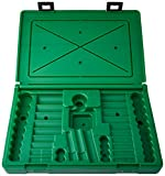 "SK Hand Tool ABOX-94547 Blow-molded replacement case for 94547, 94547-12 and 94549 3/8"" Drive Socket Sets, Green"