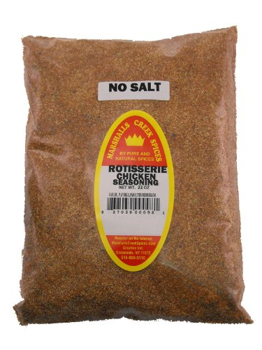 XL REFILL Marshalls Creek Spices Rotisserie Chicken No Salt Seasoning, 22 Ounce