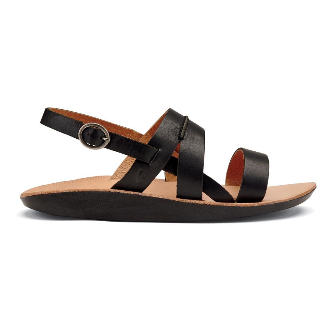 OLUKAI Womens Loea Sandal B010EAKMDK 8 B(M) US|Black/Black