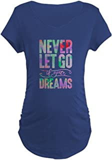 CafePress - Never Let Go - Cotton Maternity T-shirt, Side Ruched Scoop Neck