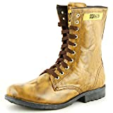 Richfield Rado Qadira Mens Genuine Leather Teak long Laced Biker Casual Boots UK 6