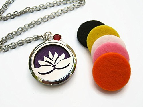 Amazoncom Personalized Lotus Flower Diffuser Necklace Stainless